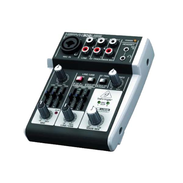 베링거 오디오 인터페이스 믹서 Behringer 302USB Mixer with XENYX Mic Preamp and USB/Audio