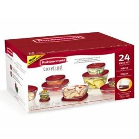 러버메이드 24개입 밀폐용기/반찬용기/Rubbermaid Easy Find Lid 24-Piece Food Storage Container Set