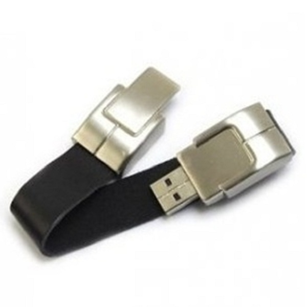 USB 메모리/팔찌형/8GB.16GB Black Bracelet Leather USB 2.0 Flash Drive