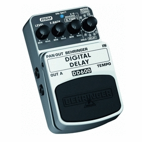 베링거 딜레이 에코 페달 Behringer DD600 Digital Stereo Delay/Echo Effects Pedal