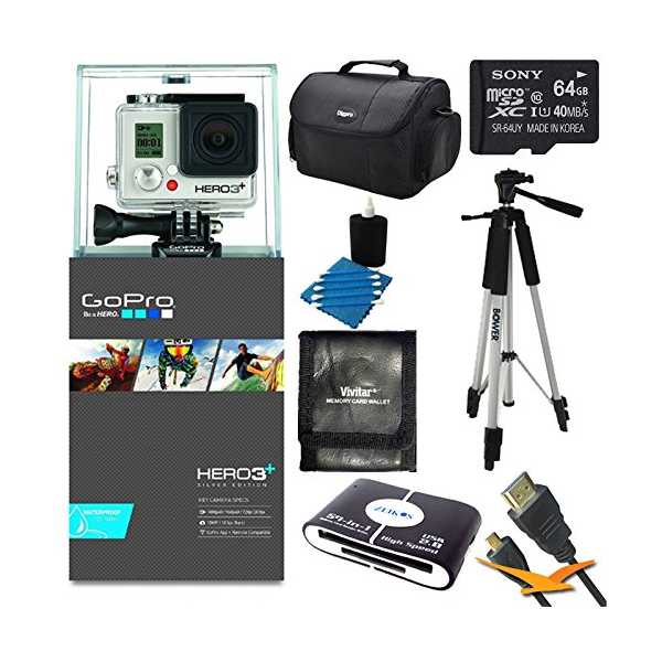 고프로 히어로3 어드벤처 키트 GoPro HERO3+ HD Action Camera Silver Edition Adventure Kit